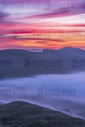 Spring sunrise over a weather inversion in the Peak District