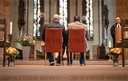 Gay couple celebrates blessing service