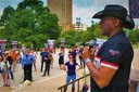 Allen West speaks at Don't Mess with Texans rally.