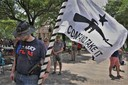 Dozens turn out for Don't Mess with Texans rally in  Austin on 05/23/2020.
