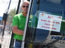 Protests by bus companies - Wiesbaden