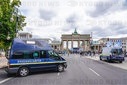Peace vehicle in front of the Brandenburg goal in Berlin