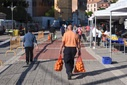 Outdoor markets reopen in Almaz疣, Spain - 23 Jun 2020
