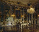 "Black "" Vieux Laque"" room furnished by Empress Maria Theresia (around 1750) ."