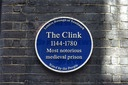 The Clink Museum sign, the venue faces closure in London, UK - 26 Jun 2020