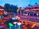 Shanghai: A night tour of yuyuan Garden's Dragon Boat Festival temple fair lights up the night economy