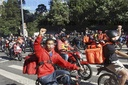Delivery workers protest during COVID-19 pandemic