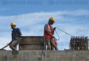 Constructors resume back to work amid coronavirus outbreak in Mumbai, India - 01 Jul 2020
