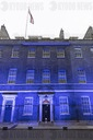 Landmark buildings Lit Blue marking 72nd Anniversary of the National Health Service.