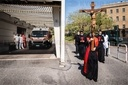 Rome. Via Crucis taking place around the hospital of S. Giovanni Addolorata