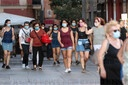 Madrid, Spain; 30/07/2020.- Madrid begins the mandatory mask stage today in...
