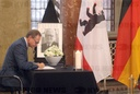 Book of condolence for Hans Jochen Vogel