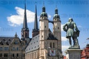 The landmark of Halle is being restored