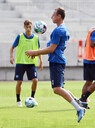 1. Team training of the Karlsruher SC