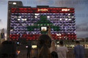 Tel Aviv's city hall lit up as Lebanese flag