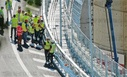 Inspection of Aspi before the reopening of the Genova San Giorgio bridge