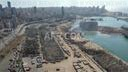 AERIAL SHOTS of the aftermath of the deadly Beirut port blasts