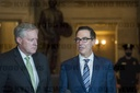 White House Chief of Staff Mark Meadows, and US Treasury Secretary Steven Mnuchin meet with House Speaker Peoliso and Senate