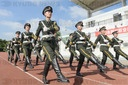 Ningbo, Zhejiang: The post-00s heroes are displayed in the high-temperature military parade