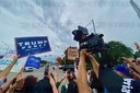 Kenosha Trump Viist: BLM Protestors and Trump Supporters Rally in same place