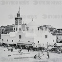 Magic lantern slide circa 1900.Victorian/Edwardian.Social History.No. 3.—Mosque and Place du Governement.
