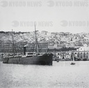 Magic lantern slide circa 1900.Victorian.Social History.No. 1.—Algiers from the Harbour.