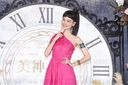 Joanne Tseng promotes for a healthy brand food by wearing a Grecian gown in Taipei,Taiwan,China on 08 September 2020