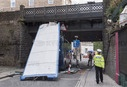 Bus crashes into low bridge in Bristol