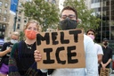PROTEST AGAINST ICE AT FEDERAL PLAZA