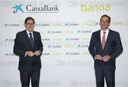 Press conference of Caixabank and Bankia after the merger