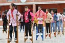 Children are playing the Chinese traditional sports in Xiangfan,Hubei,China on 14th October, 2020