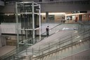 Empty gates and closed luxury shops at Tokyo's Narita airport in Japan