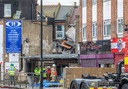 A suspected gas explosion has ripped though a building in Kings Street, Southall in West London.
