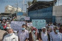 Protest against UNRWA's reduction of food basket in Gaza