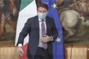 Italy, Rome: The Italian Premier Giuseppe Conte during the press conference after the Minister's cabinet