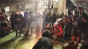 Portland demonstrators burn US flag in post-Election Day protest