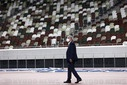 IOC President Thomas Bach visits the Japan National Stadium