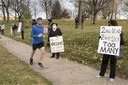 COVID-19: Mask Protest at Iowa Governor's Mansion