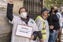 Health Care Workers Protest in Madrid