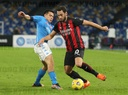 Serie A football match SSC Napoli vs AC Milan. AC Milan won 3-1.