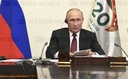 Russian President Putin Joins G20 Summit Meeting Via Video Conference