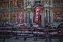 Rally called by UGT and CCOO in front of San Telmo Palace