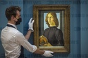 "US$80m ""Young Man Holding a Roundel"" by Sandro Botticelli on display"